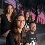 Del fons cap endavant: Mireia Oliver (secretària), Mariona Rabasa (presidenta), Xavier Barreda (coordinador) i Mariona Selga (resposnable grup Vallès)